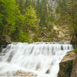 "The waterfall in the canyon ""Pöllatschlucht"" near the castle ""Neuschwanstein"" in Bavaria — Stock Photo"