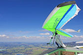 TEGELBERG, GERMANY - MAY 16: Competitor Natalya Petrova from Russia of the King Ludwig Championship hang gliding competitions takes part on May 16, 2012 in Tegelberg, Germany — Stock Photo
