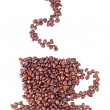 Coffee cup made of beans on white background — Stock Photo #10993253