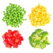 Set of different frozen vegetables isolated on white — Stock Photo #10993524