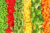 Míchaná zelenina pozadí — Stock fotografie