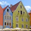 Beautiful colorful houses in Fussen, Bavaria, Germany — Stock Photo #11003772