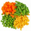 Set of different frozen vegetables isolated on white — Stock Photo #11125955
