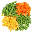 Set of different frozen vegetables isolated on white — Stock Photo #11125964