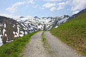 Hiking path in Swiss Alps. switzerland — Stock Photo