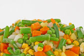 The mixed vegetables on white background — Стоковое фото