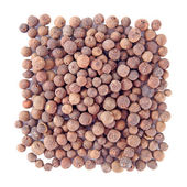 Big pile of allspice , square on the white background — Stock Photo