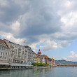 View of town on the river . Lucerne. Switzerland — Stock Photo #11244366