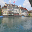 View of town on the river . Lucerne. Switzerland — Stock Photo #11244400