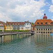 View of town on the river . Lucerne. Switzerland — Stock Photo #11244430