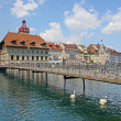 View of town on the river . Lucerne. Switzerland — Stock Photo #11244434