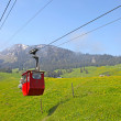 Cable railway in Switzerland - Stock Photo