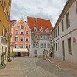 Beautiful houses in Fussen, Bavaria, Germany - Stock Photo