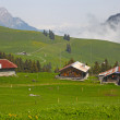 Stock Photo: Mountain village in Swiss alps, Switzerland, Euripe