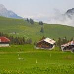 Mountain village in Swiss alps, Switzerland, Euripe — Stock Photo