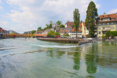 View of town on the river . Lucerne. Switzerland — Stockfoto