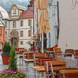 Stock Photo: Beautiful colorful houses in Fussen, Bavaria, Germany