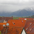 Beautiful roofs of houses in Fussen, Bavaria, Germany — Stock Photo #11349834