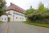Houses in Fussen, Bavaria, Germany v — ストック写真