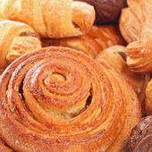 Close up bild dresh lecker bäckerei hintergrund — Stockfoto