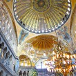 Interior of the Hagia Sophia in Istanbul, Turkey — Stock Photo #11562266