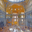 Interior of the Hagia Sophia in Istanbul, Turkey — Stock Photo