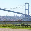 The First Bosporus Bridge connecting Europe and Asia (Turkey) — Stock Photo