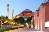 The Hagia Sophia at night, Istanbul, Turkey — Stock Photo