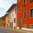 Small old town of Gemona taken in  Italy - Stock Photo
