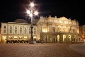 La Scala opera house, The most famous italian theatre in milan — Stock Photo
