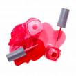 Bottle of the pink nail polish isolated — Stock Photo