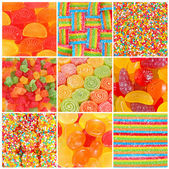 Set of A lot of colorful colorful candies for background — Stock Photo