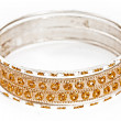 Bangle, Indian bracelets isolated on the white background - Foto Stock