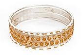 Bangle, Indian bracelets isolated on the white background — Stock Photo