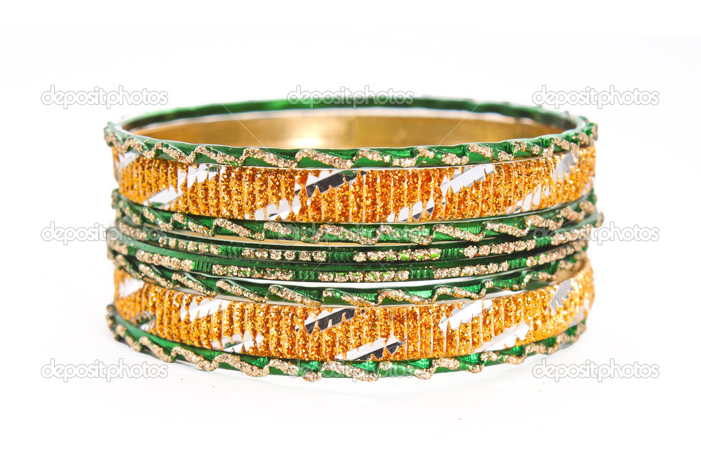Bangle, Indian bracelets isolated on the white background — Stock Photo #12088979