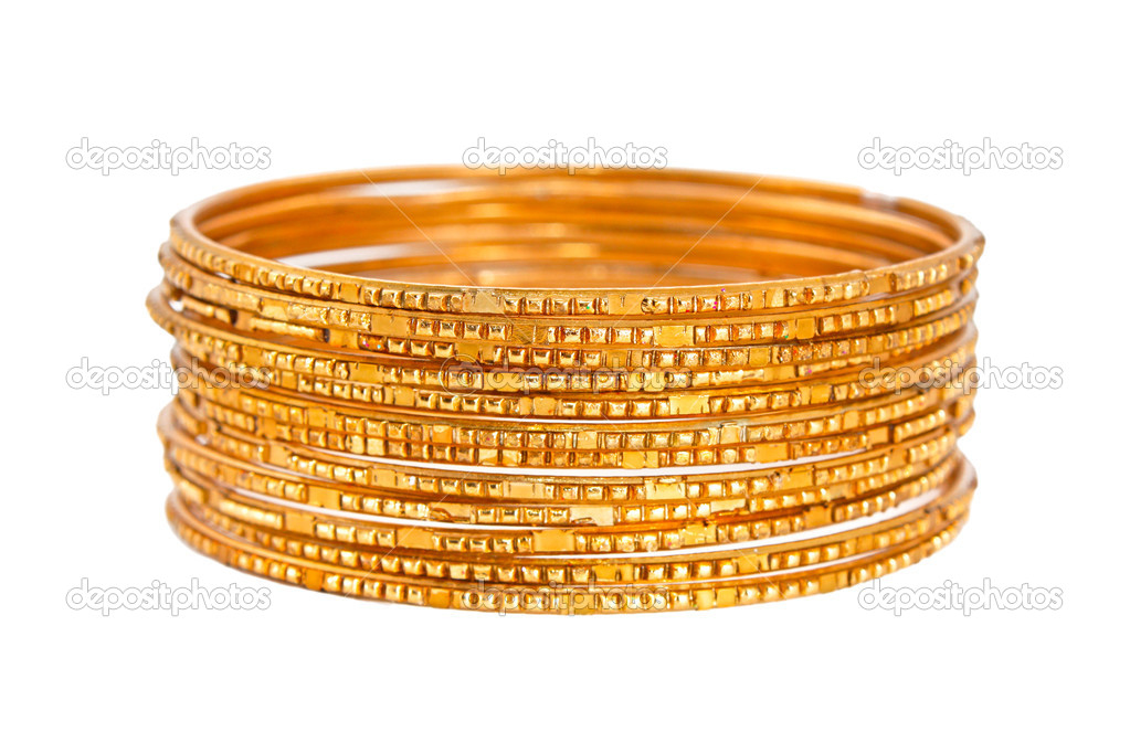 Bangle, Indian bracelets isolated on the white background — Stock Photo #12088999