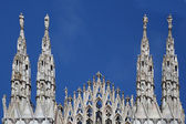 Facade of Milan Cathedral (Duomo), Lombardy, Italy — Stock Photo