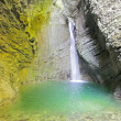 Kozjak waterfall (Slap Kozjak) near Kobarid, Julian Alps, Slovenia — Stock Photo