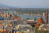 City view of the Budapest. buildings and Danube river Hungary — Stock Photo
