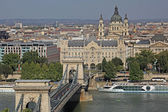 Szechenyi řetězový most, budapešť, maďarsko — Stock fotografie