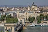 Szechenyi цепной мост, будапешт, венгрия — Стоковое фото