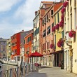 Venice Grand canal with gondolas, Italy in summer bright day — Stock Photo