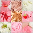 Set of different ice-cream backgrounds — Stock Photo