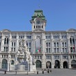 Municipality on areof unification of Italy. Trieste, Italy — Stock Photo #12375814