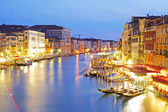 Grand Canal at night taken in Venice , Italy — Stock Photo