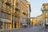 Beautiful architecture, and buildings of Trieste, Italy — Stock Photo