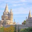 Detail of the Fisherman's Bastion in Budapest - Zdjęcie stockowe