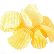 Potato chips isolated on white background — Stock Photo