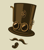 Vector Steampunk top hat — Stock Vector