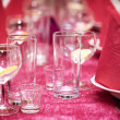 Table in the restaurant, the preparation before the banquet — ストック写真